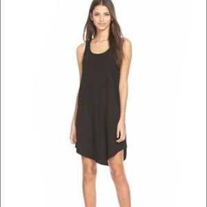 Leith black tank shift dress
